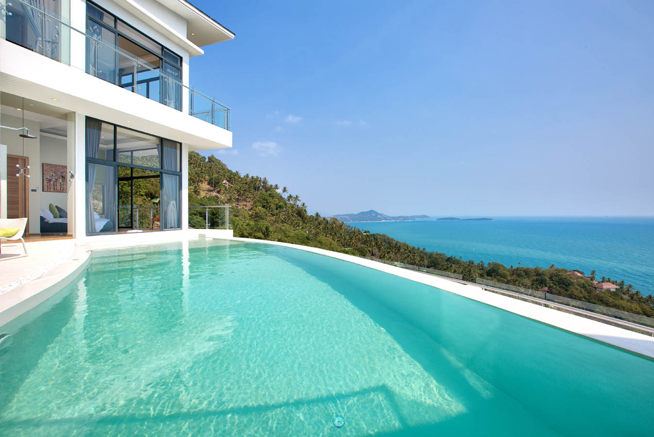 Infinity pool with 180 seaview villa seawadee for Villas with infinity pools